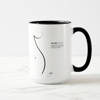 'Saunter' 15oz Mug with written definition