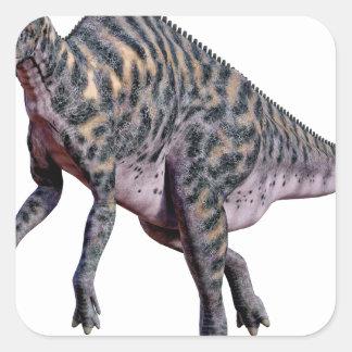 Saurolophus Dinosaur Square Sticker