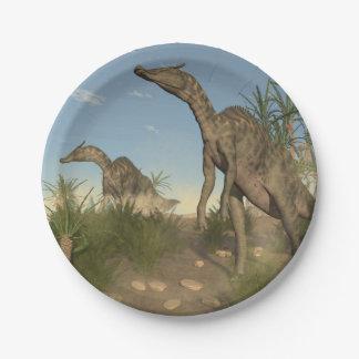 Saurolophus dinosaurs - 3D render 7 Inch Paper Plate