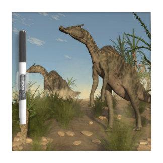 Saurolophus dinosaurs - 3D render Dry Erase Board