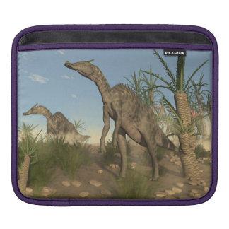 Saurolophus dinosaurs - 3D render iPad Sleeve