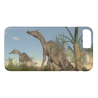 Saurolophus dinosaurs - 3D render iPhone 8 Plus/7 Plus Case