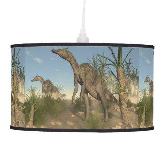 Saurolophus dinosaurs - 3D render Pendant Lamp