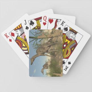 Saurolophus dinosaurs - 3D render Playing Cards