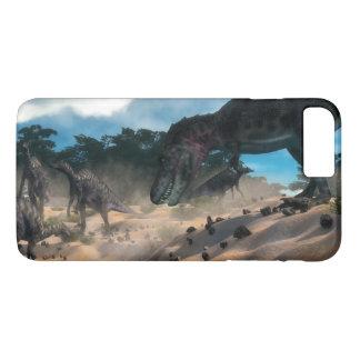 Saurolophus hunting tarbosaurus dinosaur iPhone 8 plus/7 plus case