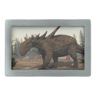 Sauropelta dinosaur - 3D render Belt Buckle