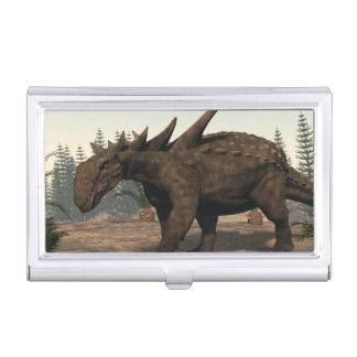 Sauropelta dinosaur - 3D render Business Card Holder