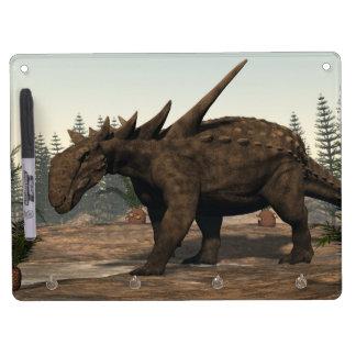 Sauropelta dinosaur - 3D render Dry Erase Board With Keychain Holder