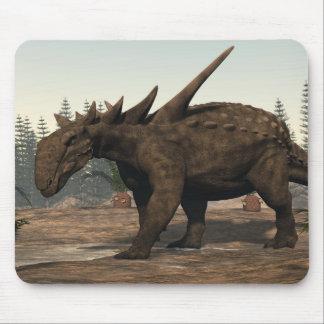 Sauropelta dinosaur - 3D render Mouse Pad