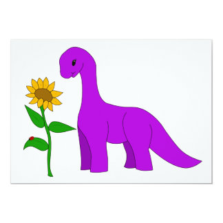 Sauropod and Sunflower Card