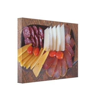 Sausage and Cheese Snack in Buenos Aires Gallery Wrap Canvas
