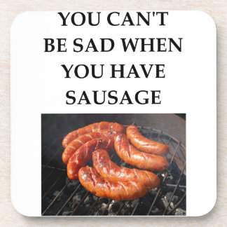 SAUSAGE BEVERAGE COASTERS