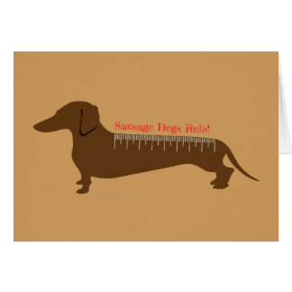 Sausage Dogs Rule Card