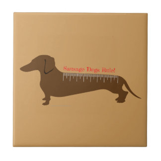 Sausage Dogs Rule Ceramic Tiles