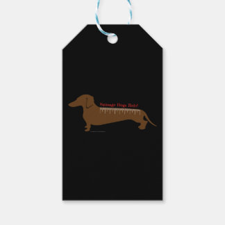 Sausage Dogs Rule Pack Of Gift Tags