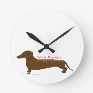 Sausage Dogs Rule Wallclock