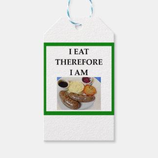 sausage gift tags
