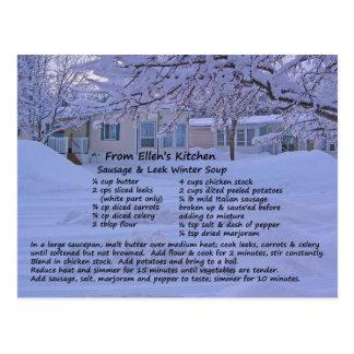 Sausage & Leek Soup Recipe Postcard
