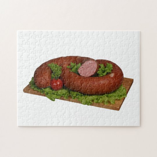 Sausage on the board. jigsaw puzzle