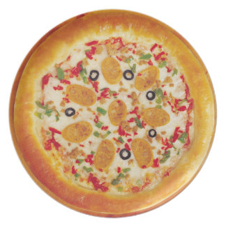 Sausage Pizza Party Plates