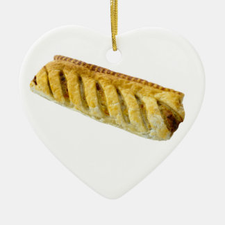 Sausage Roll Heart Shaped Christmas Ornament