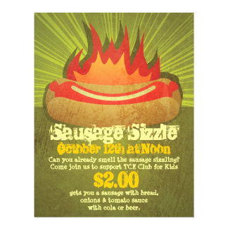 Sausage Sizzle Party Flyers