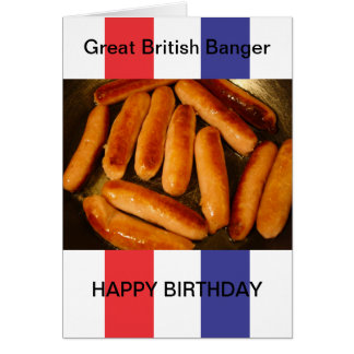 Sausages Happy Birthday Card