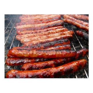 sausages postcard