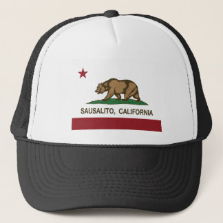 sausalito california state flag trucker hat