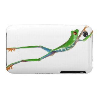 Sauter observé par rouge de grenouille d arbre coques Case-Mate iPhone 3