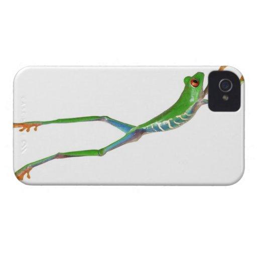 Sauter observé par rouge de grenouille d'arbre étuis iPhone 4