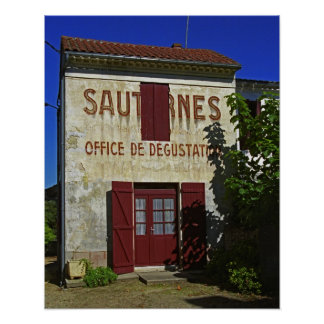 Sauternes Office de Degustation (Wine Tasting Poster