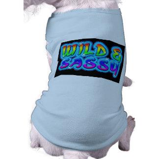 Sauvage et impertinent - débardeur à nervures de c vêtements pour chien