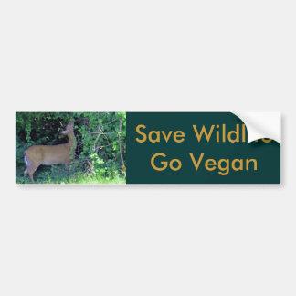 Sauvez la faune vont végétalien autocollant de voiture
