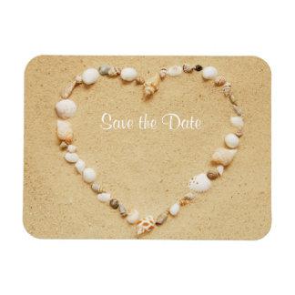 Sauvez l'aimant flexible de coeur de coquillage de magnet