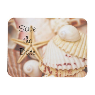 Sauvez l'aimant flexible de coquillages de date magnets rectangulaire