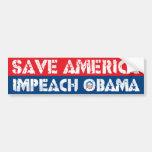Sauvez l'Amérique - attaquez Obama Autocollant Pour Voiture