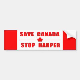 Sauvez le Canada - arrêtez l'adhésif pour Autocollant De Voiture