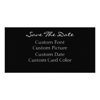 Sauvez les cartes de date (votre conception) carte avec photo