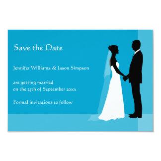 Sauvez les silhouettes de jeune mariée et de marié bristols