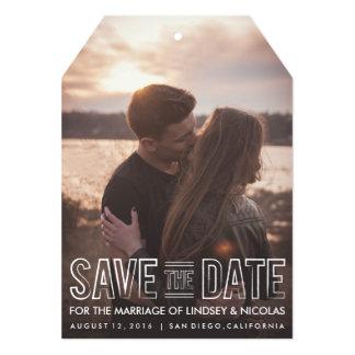 Sauvez l'étiquette de mariage de date carton d'invitation  12,7 cm x 17,78 cm