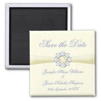 Sauvez l'ivoire d'aimant de date avec la perle et magnet carré
