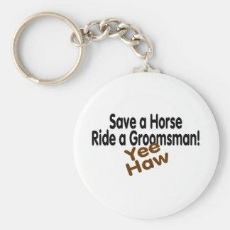 Sauvez un tour de cheval une baie d'aubépine de Gr Porte-clé Rond