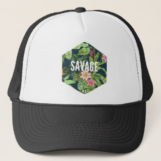 Savage cap with flowers