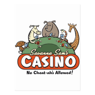 Savanna Casino Postcard