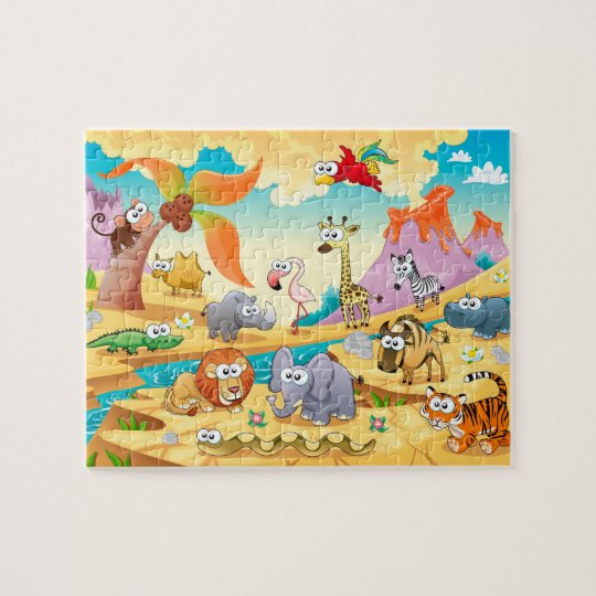 Savannah animals family jigsaw puzzle