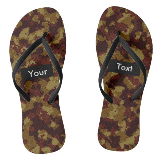 Savannah Camouflage Full Print Customizable Flip Flops