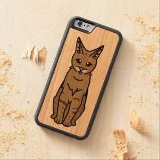 Savannah Cat Cartoon Carved Cherry iPhone 6 Bumper Case