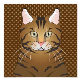 Savannah Cat Cartoon Paws Photograph