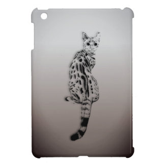 Savannah Cat Caught by Surprise iPad Mini Cover